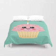 Happy Pixel Cupcake Duvet Cover