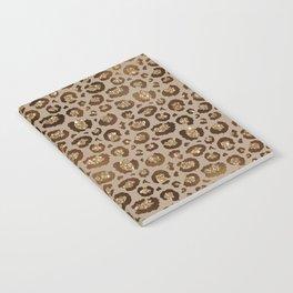 Brown Glitter Leopard Print Pattern Notebook
