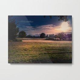 Sunrise Over The Reserve Metal Print