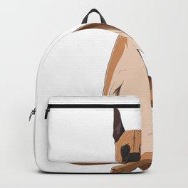 Yoga Great Dane Dog Backpack