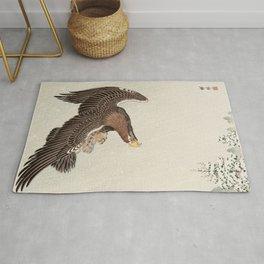 Koson Ohara - Eagle - Japanese Vintage Woodblock Painting Rug