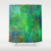 emerald Shower Curtains featuring Emerald  by Christy Leigh