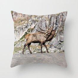 Wapiti Bugling (Bull Elk) Throw Pillow