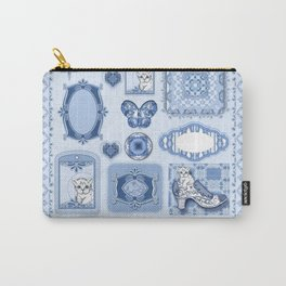 Kitty in a Blue Shoe Carry-All Pouch