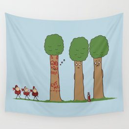 Tree Prank Gone Wrong Wall Tapestry