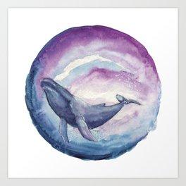 Whale's Dream Art Print