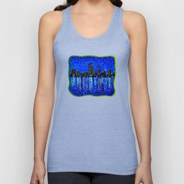 Perth Evening Blues Unisex Tank Top