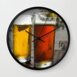 Refreshing Beverages by the Lake Wall Clock