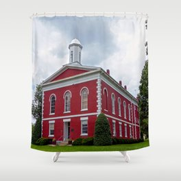 Iron County Courthouse in Ironton, Missouri Shower Curtain