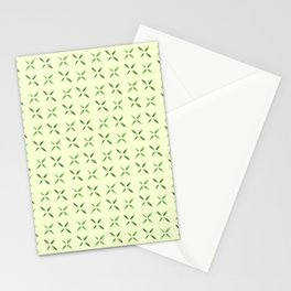 four lines 6 green Stationery Cards