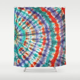 Tie Dye Vibe Shower Curtain