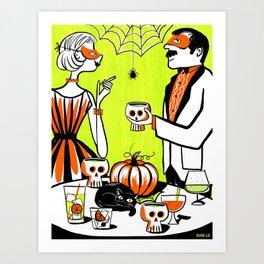 The Swankiest Halloween Party Art Print