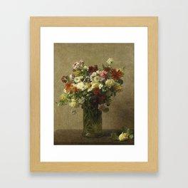 Henri Fantin-Latour - Flowers From Normandy Framed Art Print