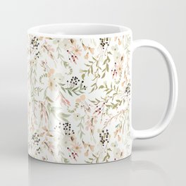 Dainty Intricate Pastel Floral Pattern Coffee Mug