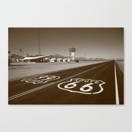 Route 66 - Amboy, California 2012 Canvas Print