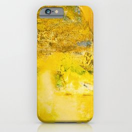 Golden - Abstract Mixed-Media Painting iPhone Case