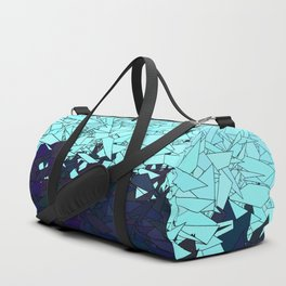 Montreal Ice Blue and Purple Ombre Urban Camouflage Duffle Bag