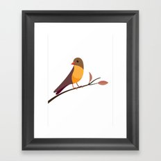 Yellow Breasted Bird Framed Art Print