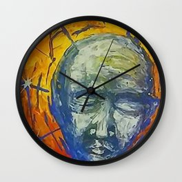 Existential Blues Wall Clock