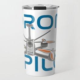 A drone racing logo, UAV Travel Mug