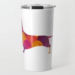 Dachshund Purple Tile Travel Mug