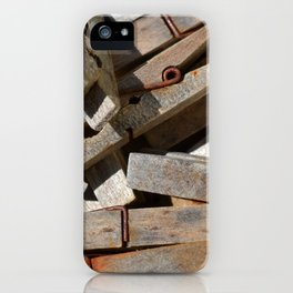 Wooden Pegs iPhone Case