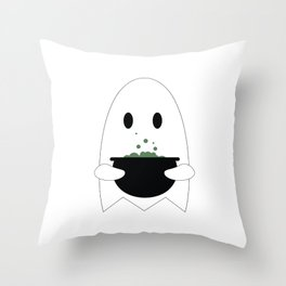 Ghost with Potion Throw Pillow