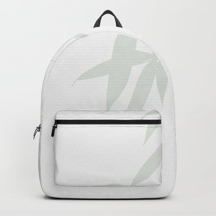 Leaves #Bamboo #Grey Backpack