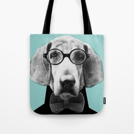 Mr Italian Bloodhound the Hipster Tote Bag