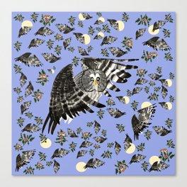 Great grey owl (Strix nebulosa) Canvas Print