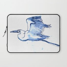 Heron in Indigo Laptop Sleeve