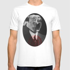Koala Yawn MEDIUM White Mens Fitted Tee