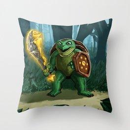 Turtle Paladin Throw Pillow