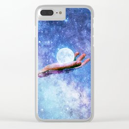 Galactic Pool Clear iPhone Case