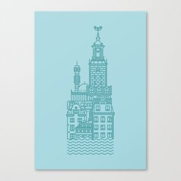 Stockholm (Cities series) Canvas Print