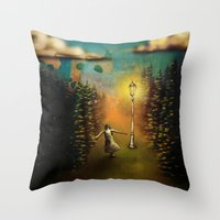 lucy Throw Pillows featuring Lucy by Joel Pritchard