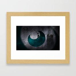 Man on Moon Framed Art Print