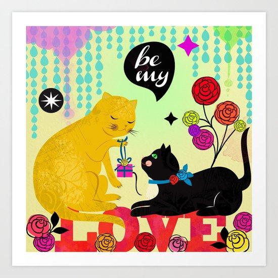 Cat Valentine Art Print