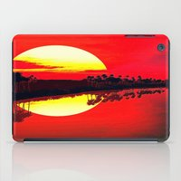 duvet cover iPad Cases featuring Sunset duvet cover by customgift
