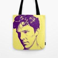cumberbatch Tote Bags featuring CUMBERBATCH by Anile McLean