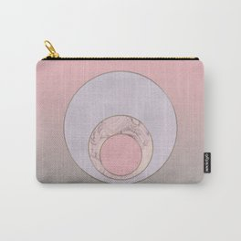 Soft Pastel Elegant Circles Carry-All Pouch