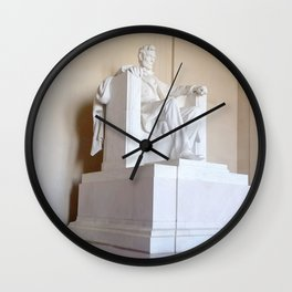 Abe lincoln photography Wall Clock