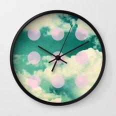 Clouds + Dots Wall Clock