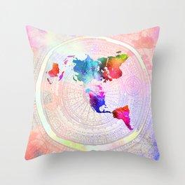 Flat Earth Throw Pillow