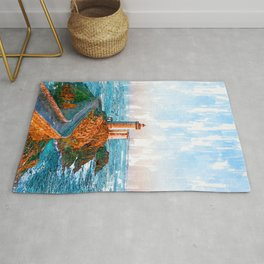 Lighthouse In Brittany France - For Lighthouse Lovers Rug