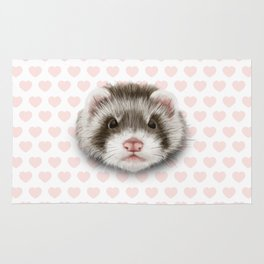 angry ferret Rug