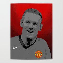 Wayne Rooney MUFC Poster