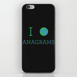 I heart Anagrams iPhone Skin