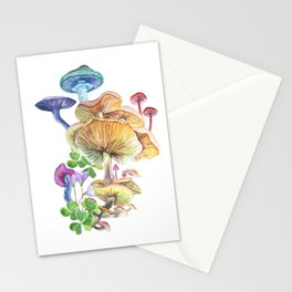 Watercolor mushrooms. Stationery Cards