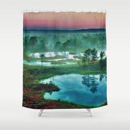 Vibrant Landscape Shower Curtain